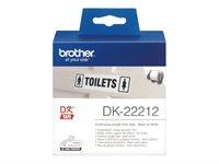 Brother Original - Etikettenrolle weiß 6,2cm x 15,