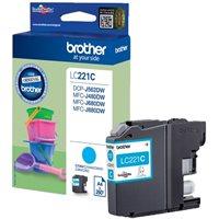 Brother Original - Tinte cyan -  LC221C