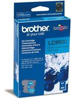 Brother Tinte cyan für DCP-145C, LC-980C