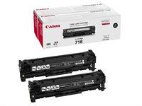 Canon Toner schwarz 2er (CRG 718) , 2662B005