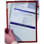 Dokumentenhalter, Hartfolie, 0,32 mm, matt, A5, 168 x 230 mm, rot