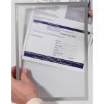 Dokumentenhülle Frame It X-tra! Line, DIN A4, Hartfolie, matt, grau, 0,32 mm