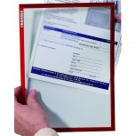 Dokumentenhülle Frame It X-tra! Line, DIN A5, Hartfolie, matt, rot, 0,32 mm