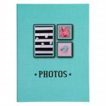 Einsteckalbum mit flexiblen Hüllen Fantasie 128 Fotos - Format der Fotos 11x15cm.