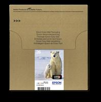 Epson Original Multipack BK/C/M/Y 26 EasyMail - C13T26164511