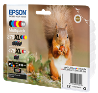 Epson Original Multipack BK/C/M/Y/R/G 378XL / 478XL Claria Photo HD Ink