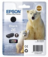 Epson Singlepack schwarz 26 Claria T2601
