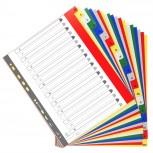 Farbige Register aus PP, 20-teilig, für DIN A4+