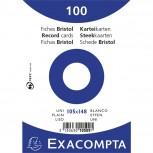 Folie eingeschweißt mit 100 Stück Karteikarten ungelocht, DIN A6 105x148mm, 205g, blanko