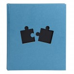 Fotalbum 60 Seiten schwarz Puzzle 29x32.