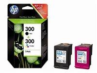 HP 300 original 2er-Pack Tinte schwarz - CN637EE