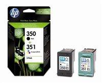 HP 350 / 351 original 2er-Pack Tinte schwarz, cyan, magenta, gelb - SD412EE