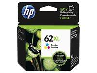 HP 62XL original HC Tinte cyan, magenta, gelb - C2P07AE