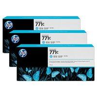 HP 771C original 3er-Pack Tinte cyan - B6Y36A