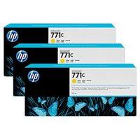 HP 771C original 3er-Pack Tinte gelb - B6Y34A