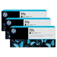 HP 771C original 3er-Pack Tinte schwarz - B6Y31A