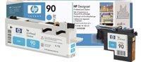 HP 90 cyan DesignJet Druckkopf und Druckkopfreiniger - C5055A