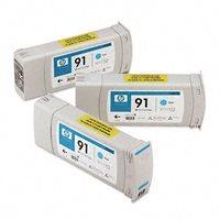 HP 91 original 3er-Pack Tinte cyan - C9483A