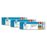 HP 91 original 3er-Pack Tinte grau - C9482A