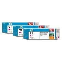 HP 91 original 3er-Pack Tinte magenta - C9484A