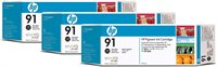 HP 91 original 3er-Pack Tinte schwarz - C9481A