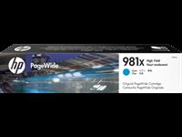 HP 981X original HC PageWide Tinte cyan - L0R09A