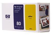 HP Tinte Nr. 80 für DJ 1050 gelb  - C4873A