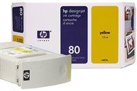 HP Tinte Nr. 80 für DJ 1050C/CM gelb  - C4848A