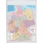 Kartentafel Deutschland, Tafel magnethaftend, 1:760000, 98 x 140 cm