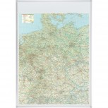 Kartentafel Deutschland, Tafel magnethaftend, 1:800000, 98 x 138 cm