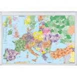 Kartentafel Europa, Tafel magnethaftend, 1:3.600.000, 138 x 98 cm
