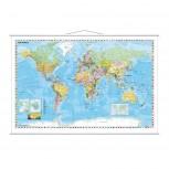 Kartentafel Welt, Tafel beschreibbar, 1:33.000.000, 97 x 137 cm