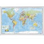 Kartentafel Welt, Tafel magnethaftend, 1:33.000.000, 138 x 88 cm