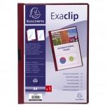 Klemmappe aus PVC, mit Exaclip, Kapazität 30 Blatt, für DIN A4