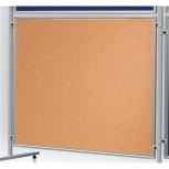 Korktafel ECO, beidseitig verwendbar, 120 x 120 cm, Kork