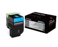 Lexmark 800X2 Toner cyan - 80C0X20