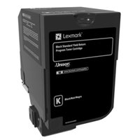 Lexmark Original HC Toner schwarz - 74C2SK0