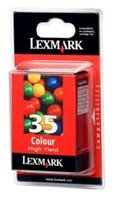 Lexmark Tintenpatrone color, Nr. 35, original, 18C