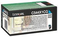 Lexmark Tonerkassette cyan HC für C544/X544