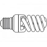 Maul Energiespar-Leuchtmittel 15W Sockel E27, 6500 K transparant