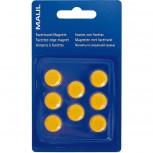 Maul Facetterand-Magnet MAULpro SB 0,17 kg Haftkraft, 8 St./Set gelb