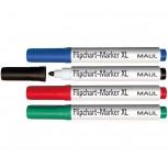 Maul Flipchart-Marker-Set XL,  4 St./Set farblich sortiert