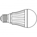 Maul LED-Leuchtmittel 10 W Sockel E27, 4000 K transparant