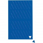 Maul Magnetsymbole Dreieck 1/1cm 180 St./Btl. blau