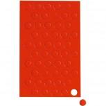 Maul Magnetsymbole Kreis,  50 St./Btl.rot rot