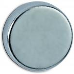 Maul Neodym-Magnet, Ø 10x3 mm, 2 kg Haftkraft, 10 St./Set hellgrau