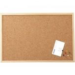 Maul Pinnboard mit Holzrahmen, 60x100 cm holzfarbe