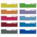 MODULO Set mit 10 Maxi A4 Frontplatten farbig sortiert