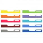 MODULODOC Set mit 10 Normal A4 Frontplatten (farbig sortiert)