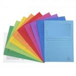 Packung mit 10 Fenstermappen mit Organisationsdruck aus Recycling-Karton 120g Forever, für Format DIN A4